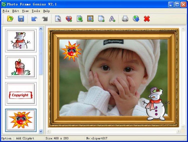 برنامج photoframegenius-2.3  تكبير وتصغير الصور